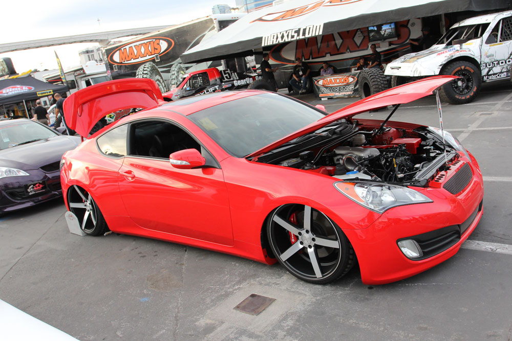 Hyundai Genesis Coupe With AEM Cold Air Intake