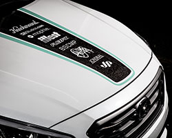 A blending of street art and auto cultures on the JP Edition 2015 Hyundai Sonata at SEMA 2014