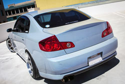 3/4 Rear View of the Infiniti G35