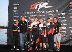 Team Need for Speed Scion Papadakis Racing celebrating their 3rd place finish.