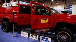 2008 Sierra 3500 HD Crew Cab Dually 4X4 at the SEMA Show