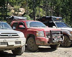 The design of AEM Dryflow air filters helps save Team Overland time and money on maintenance