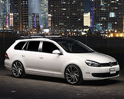 To achieve the perfect stance Raymond lowered his SportWagen with an H&R Race Spring Lowering Kit