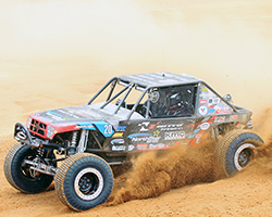 Fresh off of a win at Badlands Off-Road Park in Attica, Indiana, Derek West and the Jimmy's 4x4 race team had high hopes for the 2015 4 Wheel Parts Glen Helen Grand Prix