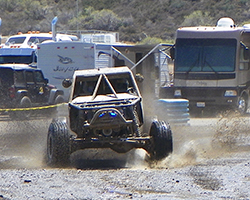 Glen Helen Raceway track crews watered the track during the race, resulting in ever changing track conditions which kept Ultra4 drivers from knowing exactly which line was best