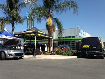 AEM booth at Puente Hills Mazda Meet