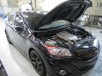 2012 Mazdaspeed 3 at AEM Hawthorne for R&D