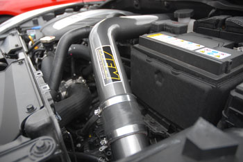 AEM 21-724C under the hood of a 2013 Hyundai Veloster