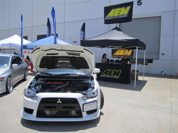 AEM Intake, Strut Bar and Intercooler Kit installed on 2010 Mitsubishi EVO X