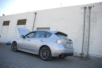 2013 Subaru Impreza WRX with AEM 21-478WR air intake system installed