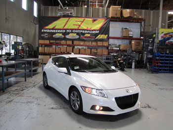 2013 Honda CR-Z at AEM Hawthorne for fit check 21-700C