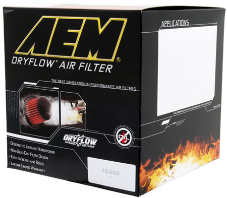 AEM DryFlow replacement air filter Box