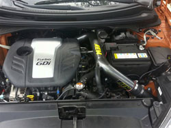 Andrew Veale installed the AEM cold air intake on his car and posted the easy to follow instructions online.