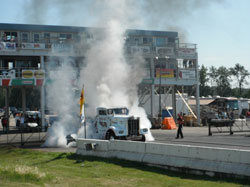 "There is no lack of diesel engine and tire smoke at these events especially when the ""Smokin' Gun"" is around."