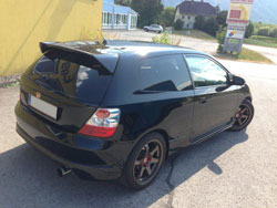 Dragan Deljic vehicle of choice is a 2004 Honda Civic Type R.