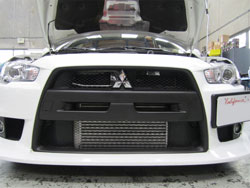 Mitsubishi Lance Evo X with AEM 2102-A and 2102-B intercooler components installed