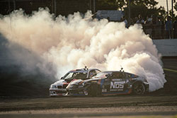 Kristaps Bluss and Chris Forsberg fight Frederic Aasbo at Formula Drift in Orlando, Florida