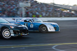 Ryan Tuerck leading Joon Maeng in the second round of Tandem racing.