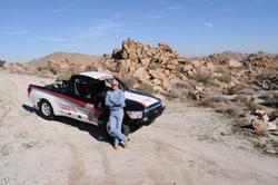 Ivan Stewart is seen here standing by his Toyota Protruck