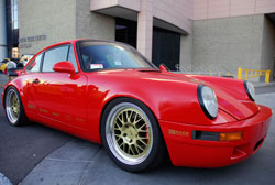 Porsche 911 Carrera at SEMA built to match the performance of the GT3s