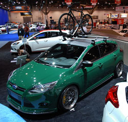 2012 Ford Focus equipped with AEM Cold Air Intake at SEMA