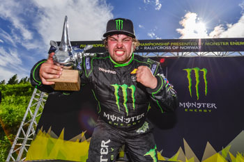 Liam Doran received a sponsorship from Monster which launched his racing career, up to receiving Silver and Gold medals in the 2013 Munich Xgames driving Mini RX.