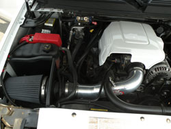 Matt Brookshier's 2007 Chevy Avalanche is equipped with AEM Dryflow Air Intake System