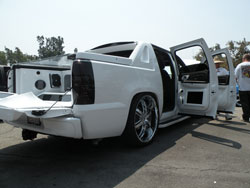 "2007 Chevy Avalanche has 17"" TV'a installed in both door panels"