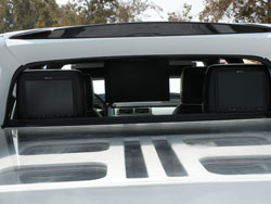 "12.2"" Monitors in the Visors, 17"" flip down Screen and Bullet Proof Plexi Glass Bed Cover"