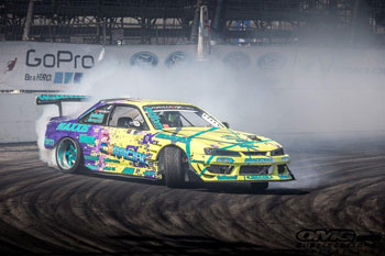 Matt Field uses an AEM Engine Management Systems (EMS) and a Dryflow Universal air filter in his Nissan Silvia S13 with the LS-engine 240 - Photo by Mike Griffith