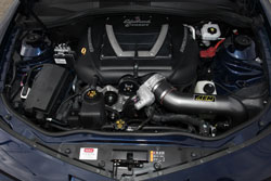 AEM's Universal Air Intake was perfect for this Chevy Camaro SS with an Edelbrock Super Charger