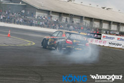 Drift racer Eric O'Sullivan in action. Photo by Wrecked Magazine.