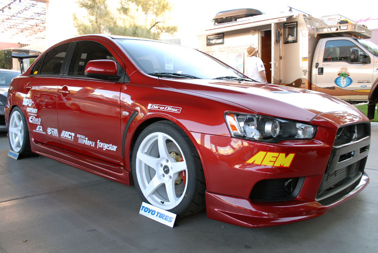 custom mitsubishi lancer evo x at the 2011 sema show