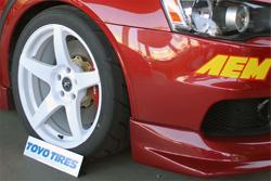 2009 Mitsubishi EVO X Lancer sporting Toyo tires on 18