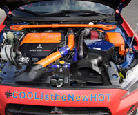 """AEM intakes are """"one of the only kits that retained a factory-style closed box, while upgrading to a cone style filter,"""" recalled Ruza."""
