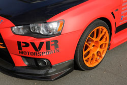HPS was represented under the hood of this Mitsubishi Evo X, providing a silicone radiator hose kit, silicone couplers and T bolt clamps.