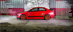 SEMA 2013 featured the PVR Motorsports' Evo X owned by Peter Ruza