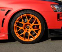 Mitsubishi Lancer Evo X with TSW Nurburgring Rotary Forged wheels (18x10.5) and Hankook V12 EVO K110's (275-35-18).