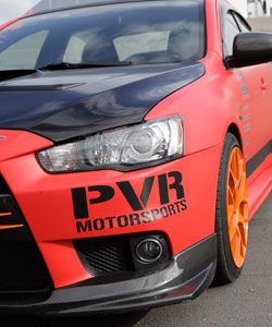 PVR Motorsports provided the build with a bumper cover, side skirt extensions, mirror covers and pillars.