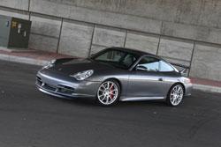 Philip Klotz's racing inspired Porsche 996 GT3 breaths through two high flowing AEM Dryflow universal air filters.