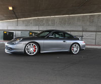 Track racing this performance modified Porsche 996 GT3 is done by none other than Philip Klotz