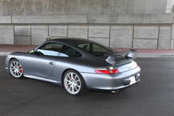 Philip Klotz used two AEM universal air filters on his performance modified Porsche 996 GT3 with custom intake