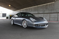 This modified Porsche 996 GT3 sports car is all about style and performance.
