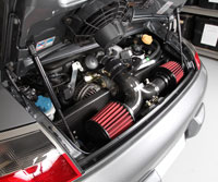 Custom Porsche 996 GT3 with two AEM universal air filters