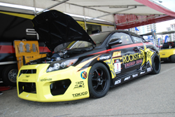 The two-time back-to-back Formula Drift champion Tanner Foust's new rear-wheel-drive V8-powered Scion tC