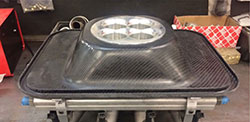 Custom carbon fiber air cleaner base plate