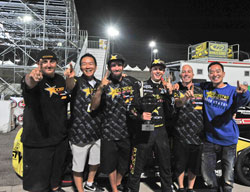 The Rockstar Energy Scion team celebrating their 1st place victory at Title Fight in Irwindale, CA.