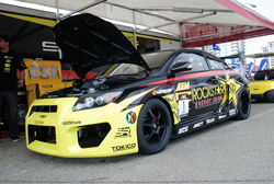 The newest addition to Papadakis Racing is Tanner Foust's Scion tC that has been converted to rear wheel drive