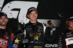 Tanner Foust in the winner's circle at Las Vegas Motor Speedway