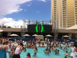 The famous Wet Republic pool with a performance from Deadmaus made for a perfect post event chill session.